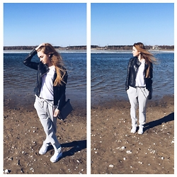 Nataliya_mos Space4art - Massimo Dutti Dark Blue, Zara White, Michael Kors G, Zara Grey, Converse Wh - Weekend on the beach