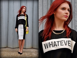 Paulina Kulinski - New Look Skirt, H&M Sweatshirt, H&M Heels - Whatever