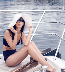 Cissy Zhang - Topshop High Waisted Bikini, Prada Baroque Sunglasses - On the sea