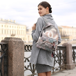 Elvira Abasova - Chanel Backpack - WANDERING THROUGH ST PETERSBURG