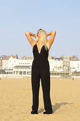 Joanne Christina Lewis - Rare London Jumpsuit - STRAP BACK PLUNGE JUMPSUIT