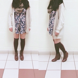 CINDY - Kimchi Blue Romper, Jeffrey Campbell Booties - Never Look Back