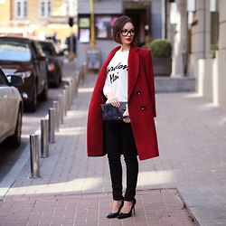 Sonya Karamazova - Zara Shoes - BURGUNDY, BLACK AND WHITE