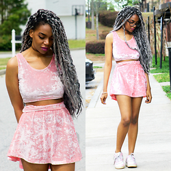 K. C - Toothandeye Crop Top, Toothandeye Skirt - Clueless: Pink on Pink