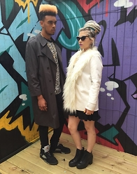 Mads Glocka - Christian Dior Mens Coat, Nasty Gal Faux Fur Coat - Velvet River Vintage ft Jacob Camp