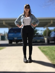 Haalen Agee - Gap Jean Jacket, H&M High Waist Jeans, Dr. Martens Dr - Today was perf