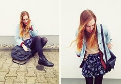 Vera G - Primark Skirt, H&M Cardigan, Levi's® Denim Jacket - F** the past, the past ain't now