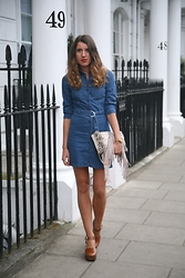 Gemma Talbot - Miss Selfridge Dress, Topshop Bag, Topshop Clogs - Dose of Denim