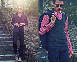 Alex Moreno - Time Of Style Shirt, American Apparel Jeans, American Apparel Glasses - ***Time of Style***