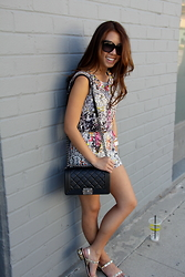 Genie Patra - Tom Ford Sunglasses, Joa Matching Set, Joa Matching Set, Chanel Purse, Valentino Sandals - Walking the Boulevard