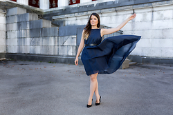 Fashionambit - Dress - BLUE THUNDER