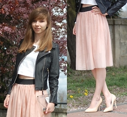 Natalia Paszkowska - Agrafka Midi Skirt, Shoes, Romwe.Com Ramones, New Look Crop Top - High waisted skirt & crop top