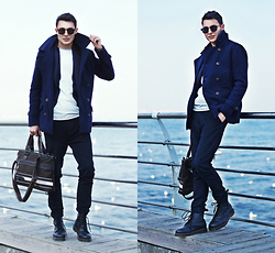 Alex Moreno - Marc By Jacobs Coat, Dr.Martens Boots, Time Of Style Cardigan - Style - a way to say who you are without words.