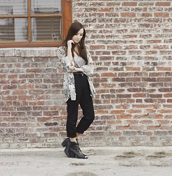 Breanne S. - Zara Pants, Nasty Gal Lace Up Boots - Zen