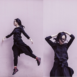 Ren Rong - Gap Glasses, H&M Dress, Cotton On Pants, Alexander Mcqueen Sneakers - Shadow Dance