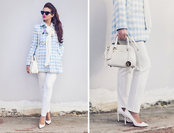 Vita K. - Asos Coat, Asos Pants, Furla Bag - Gingham