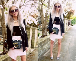 Joanna L - Topshop/Hollymoda.Pl Skirt, Primark Blazers, New Look Bags - Marshmallow