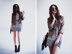 Sofia Reis - Missguided Jacket, Missguided Dress And Top, Lamodauk Boots - Clover