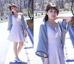 Leanne A - Charlotte Russe Pink Dress, H&M Cardigan - She's a classy lady
