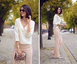 Daisyline . - Zara Bag, Zara Pants, Reserved Blouse - Nude spring look
