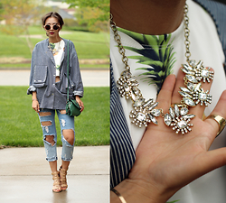 Queen Horsfall - Jcpenney Pixie Strap Sandals, Jcpenney Crystal Necklace - Casual Friday with JCPenney