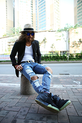 INWON LEE - Byther Pants, Byther Jacket, Nike Air Yeezy2 Shoes - Have a seat