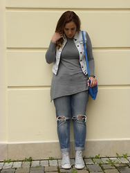 Angelica Giannini - Only Gilet, Pimkie Jeans, Converse Sneakers - Silver Shades