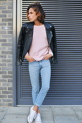 Gianni Sarracino - H&M Premium Leather Jacket, Cheap Monday Jeans - Thinkpink.