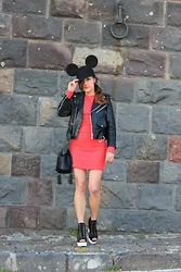 Effe Coco - H&M Bag, Choies Cap - Red Mickey Mouse
