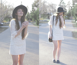 Rebecca Jacobs - Topshop White Lace Dress - Minimalist Boho