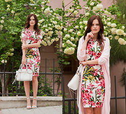 Viktoriya Sener - Axparis Floral Dress, Rebecca Minkoff Bag, Young Hungry Free Diuster Coat, Mango Sandals - DAYDREAMINGS