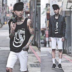 IVAN Chang - Genuinebyanthony Snapback, Uk Custom Plugs Vest, Asos Jacket, Nike Shoes - 070515 TODAY STYLE