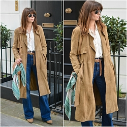 Emma Hill - Suede Coat - Suede Trench