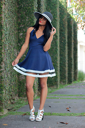 Siça Ramos - Lalalilo Dress, Sammydress Hat - Transparency - Blue Dress