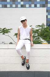 Jayson Santos - Polo Ralph Lauren Cap, New Balance Shoes - White out