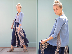 Didi Ibarra Rake - Camote Soup Dress, Camote Soup Denim Shirt, H&M Handbag - The High Bun