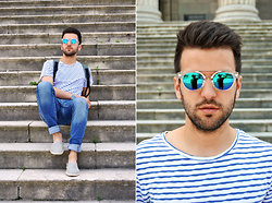 Marc Galobardes - H&M T Shirt, Pull & Bear Jeans, H&M Espadrillas - SAILOR