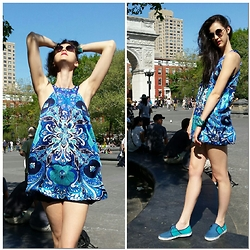 Shannon Ellen Pallay - Vans Shoes, Classique Dress - Into The Blue