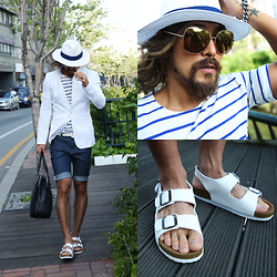 INWON LEE - Gucci Sunglasses, Birkenstock Shoes, Byther Blazer - Wind of summer