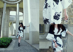 Lily ThandaSoe - Mdscollection Mono Kimono Dress - Change into Kimono ~ she said.