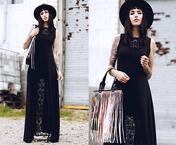 Jane Dean - Pretty Attitude Bag, Black Milk Clothing Dress - I miss you