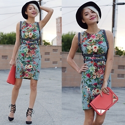 Erika Fermina - Single Dress Brady, Free People Essex Harness, Ami Clubwear Black Strappy Laceup, Leslie Francesca Druzy Studs - Bright Bloom // GIVEAWAY