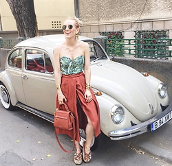 Alina Tanasa - H&M Top, H&M Skirt, Zac Posen Bag, Stradivarius Sandals - Beautiful Sunday