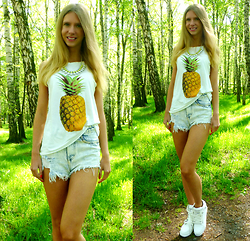 Ania Zarzycka - Jollychic Top - Ananas / Win a shirt on my blog!!