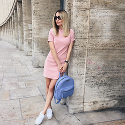 Silvia P. - Postolatieva Dress, Cathias Edeline Backpack, Stradivarius Shoes - Candy shop