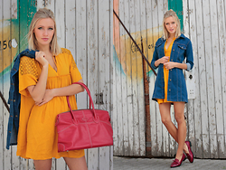 Janine - Tod's Bag, Zara Dress - Colour, colour baby