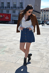 Filipa Gameiro - Mango Jacket, Zara Skirt, Zara Blouse, Zara Boots - The 1970's