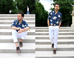 Marc Galobardes - He By Mango Shirt, Zara Trousers, H&M Shoes - FLOREADO #PARIS