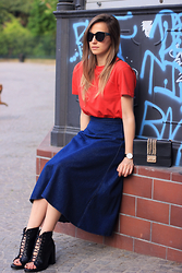 IVANA J. - Cheap Monday Sunglasses - Midi Skirt in Denim