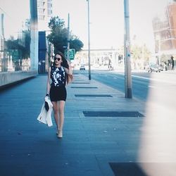Stephanie Lim - Mvn The Label Printed, Zara Fitted, Forever 21 Ankle, Miu Quilt - Supposedly Spring ♡ www.StephanieLim.net